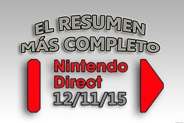 Resumen Nintendo Direct 12-11-15