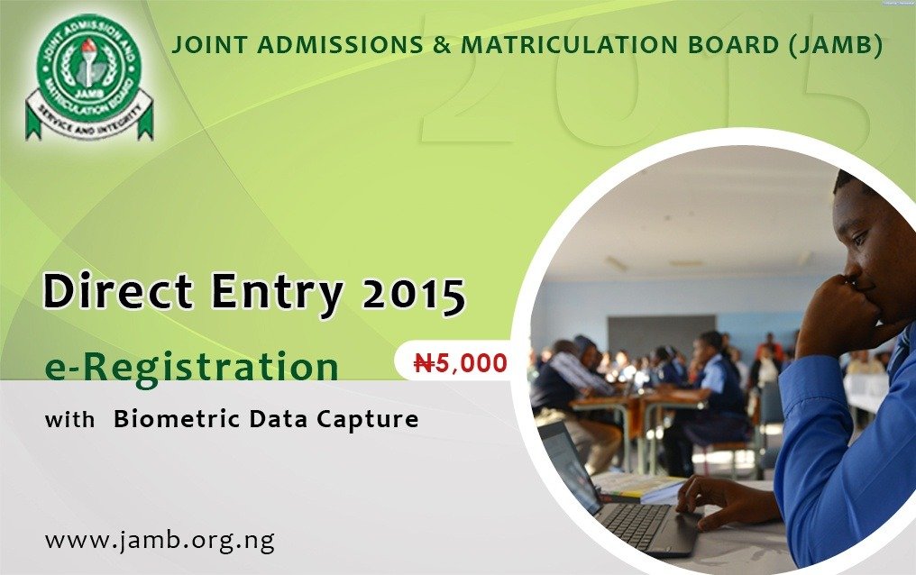 JAMB Direct Entry form 2015