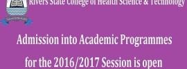 RSCHST Admission Application Form 2016/2017