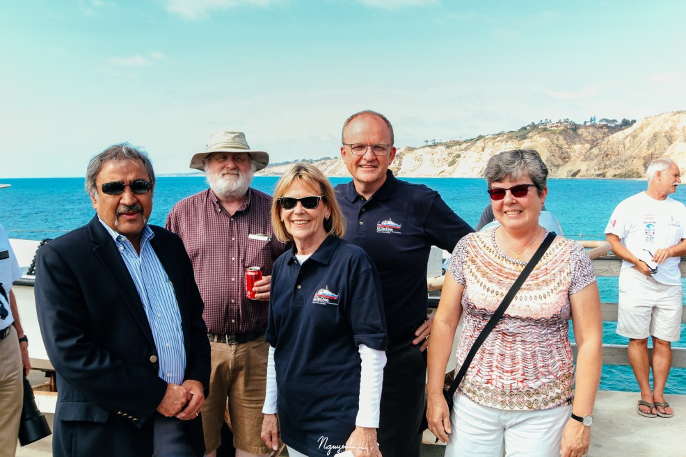 UCSD Chancellor and director of SIO attending R/V Sally Ride celebration
