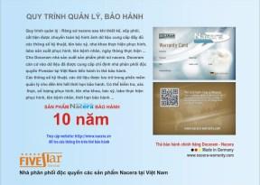 thẻ bảo hành răng sứ NaCera Đức