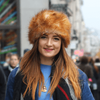 Street Style: Samara's Faux Fur & Vintage In Oxford Circus