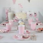 Un cumpleaños en rosa y beige: La merienda