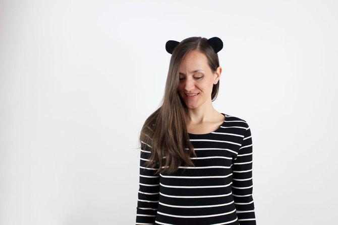 Nice Party DIY máscara oso panda Halloween disfraz (2)