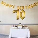 Un 70 cumpleaños muy dorado y veraniego