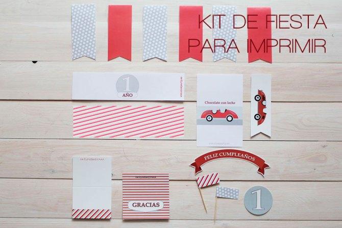 Nice-Party-pack-de-fiesta-coche-rojo-vintage-