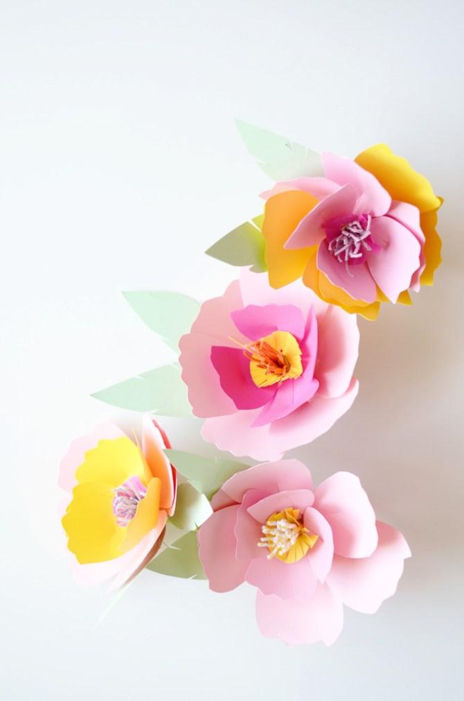 flores de papel para decorar una fiesta (1)