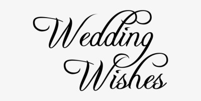 Best Wishes - Happy Wedding Font Png Transparent PNG ...