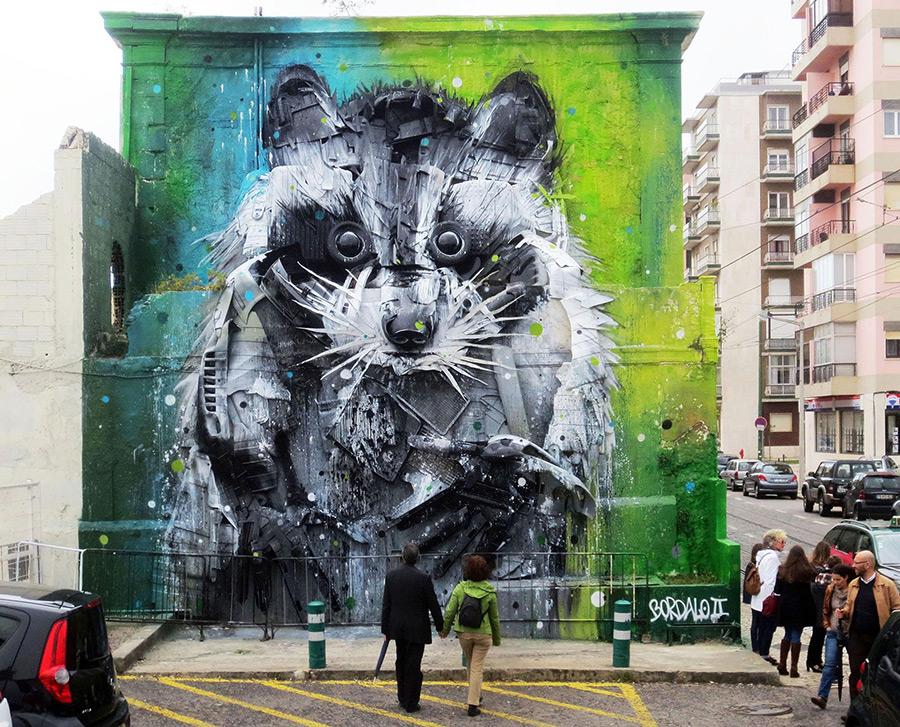Du street Art à base d'objets trouvés