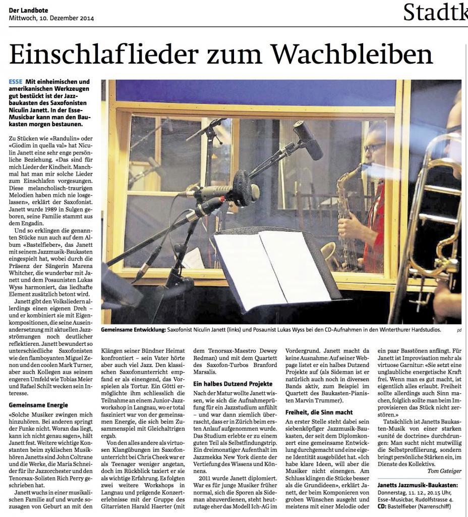 Artikel Landbote 10.12.2014