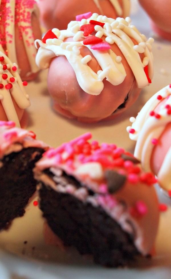 Red Wine Chocolate Cake Truffles