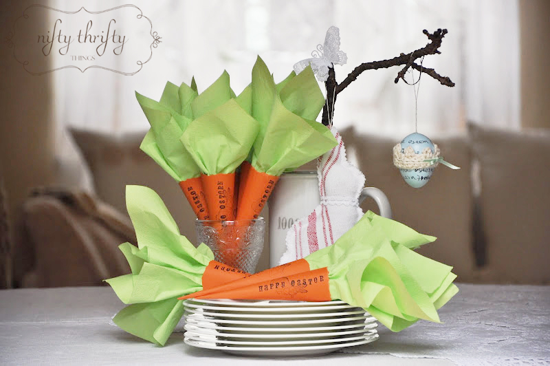 Carrot Napkin Holders - Nifty Thrifty Things