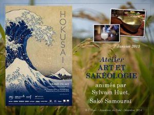 Art et sakéologie HOKUSAI Grand Palais le 7 Janvier 2015