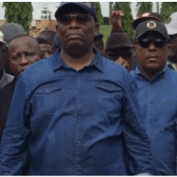 [BREAKING] PDP Chairman, Secondus leads protest to NASS over alleged police attack on Fayose (VIDEO)