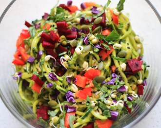 noodle-salad-avocado-dressing