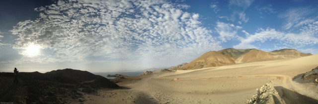 Panorama near Huarmey, Peru