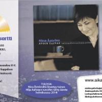 Nina Åströmin kultalevykonsertti Helsingissä - uusi levy tulossa helmikuussa