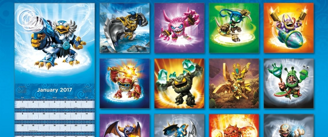 Unannounced Skylander Appears On 2017 Skylanders Wall Calendar