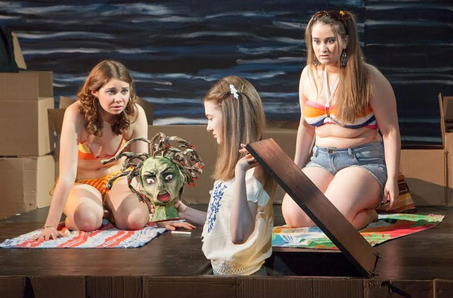 "From left, Emily Verla, Emmanuelle Nadeau and Alanna Monte co-star in ""Tar Beach,"" which is at Luna Stage in West Orange through May 9."