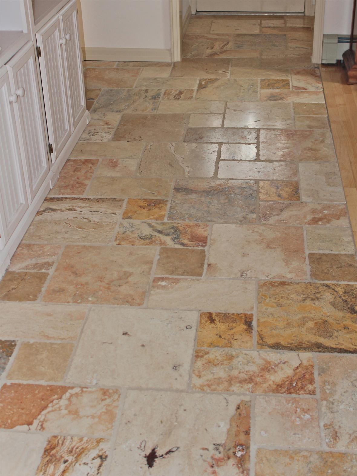 lot of combination of size and texture is available which can fit kitchen tile floor ideas Wood Effect Tile Floor