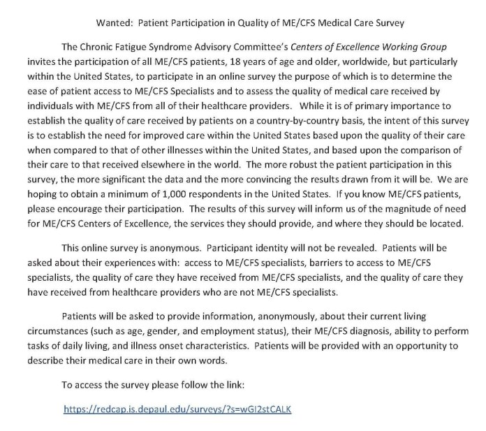 MECFS_Patient_Quality_of_Medical_Care_Survey 2015-02A