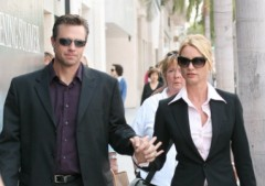 My cousin Steve Pate and Nicollette Sheridan, holding hands isn't that nice?