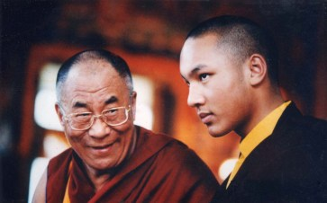 Dalai Lama and Trinley Dorje 722x449 Top Buddhist says Video war games satiate my feelings of aggression photo