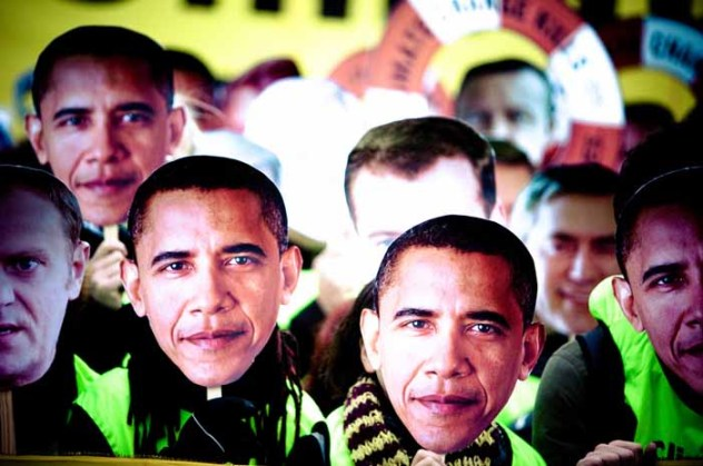 Obama masks at Copenhagen