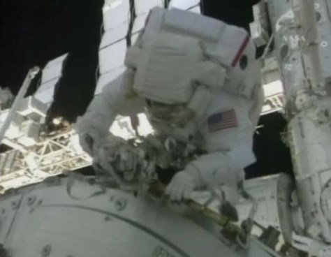 STS130 EVA1 and Tranquility 554x430 Astronauts Install Tranquility During Space Walk Video photo