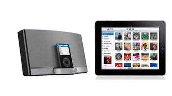 Bose Sounddock iPad Bose SoundDock Portable and iPad a cool music system photo
