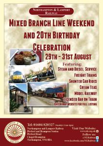Mixed Branch Line Weekend and 20th Birthday Celebration @ Northampton & Lamport Railway | Chapel Brampton | United Kingdom