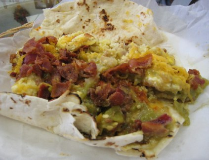The breakfast burrito supreme.