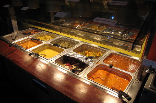 The lunch buffet at Namaste