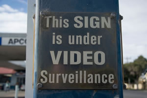 This sign is under surveillance