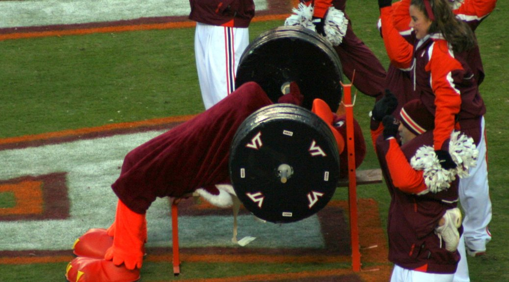 hokie_bird_bench_press