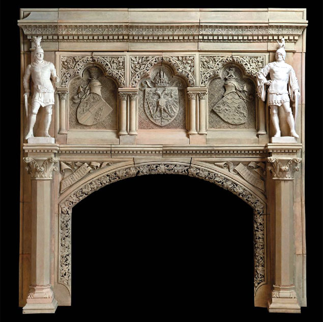 Antique Austrian Fireplace