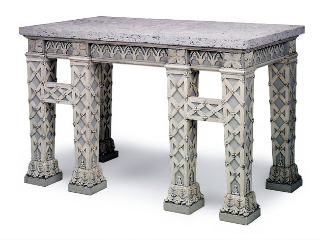 English White Gothick Table