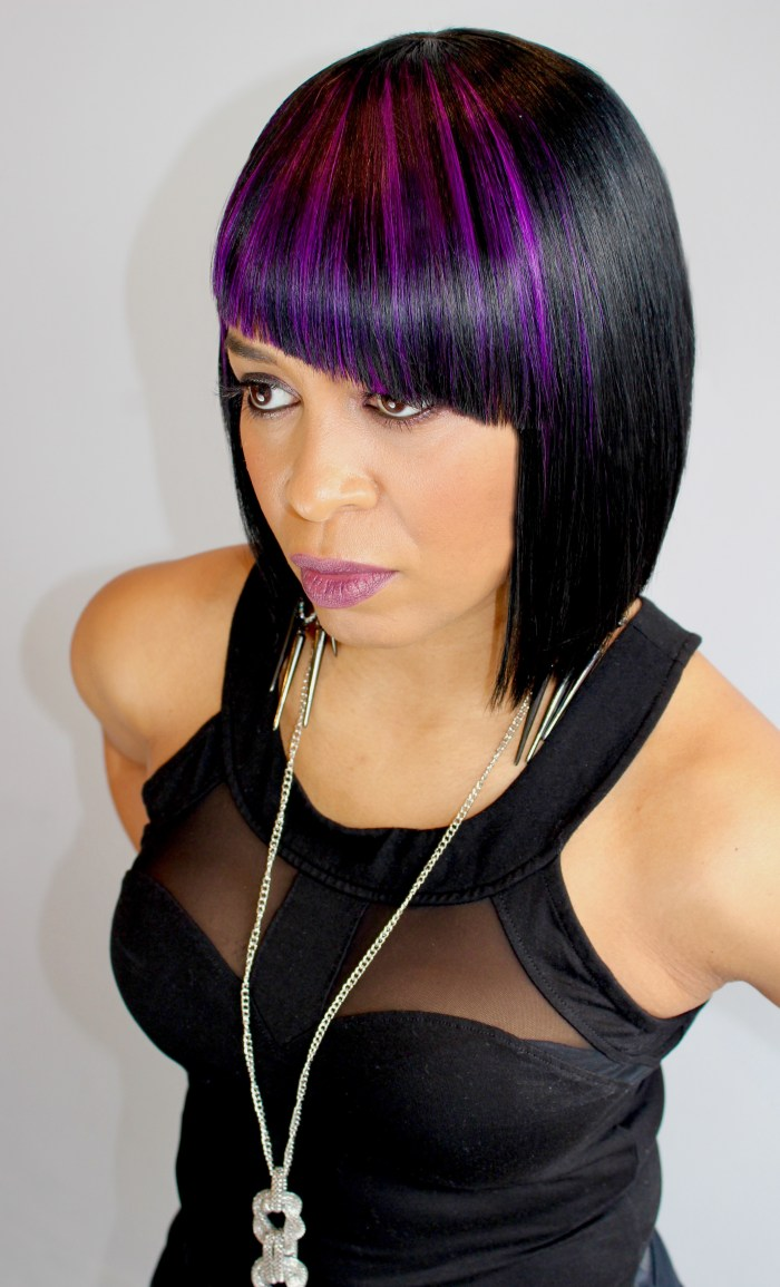 Noir Hair Salon purple wig