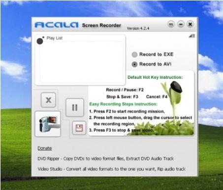 Programma Acala Screen Record