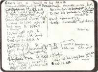 Handwritten first Rolling Stones setlist from Ian Stewart's Diary