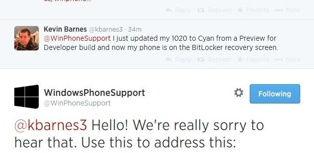 Lumia Cyan Bitlocker