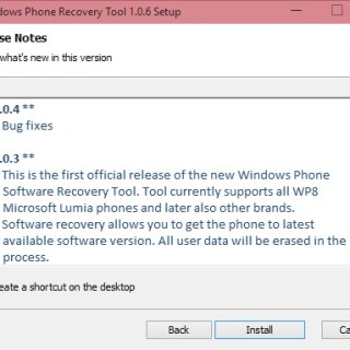 Recovery tool support