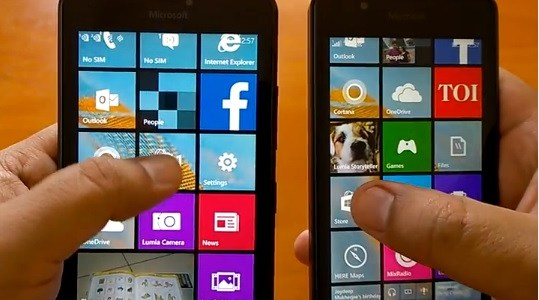 Lumia 540 vs 640 XL comparison