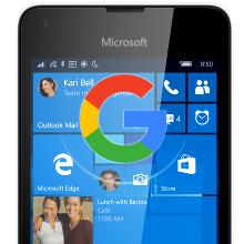 Google apps on Windows 10 Mobile