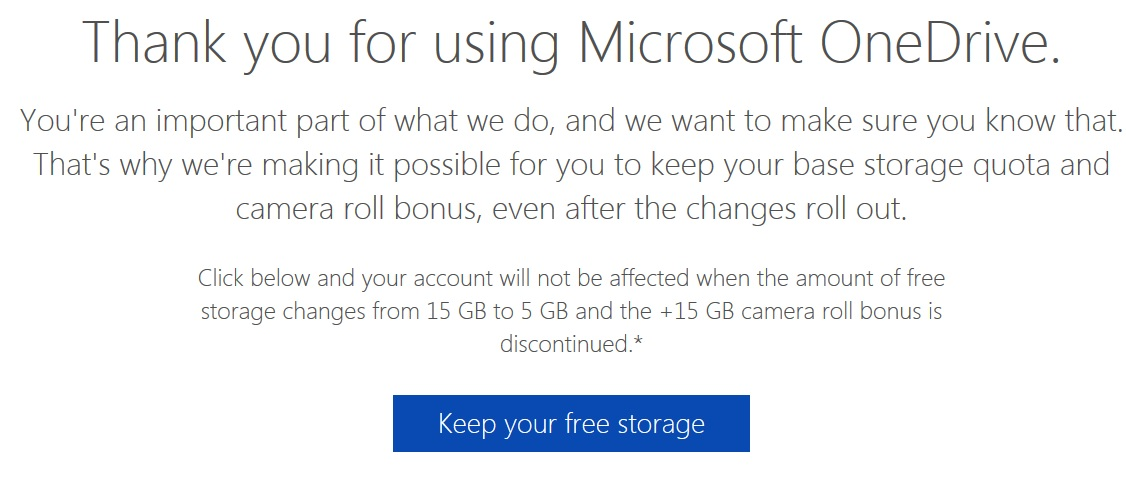 How to retain 30 GB Free OneDrive storage (Windows Phone)