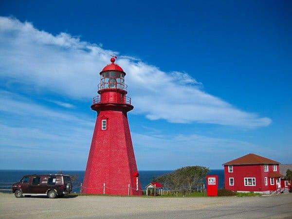 Quebec lighthouse Canada road trip