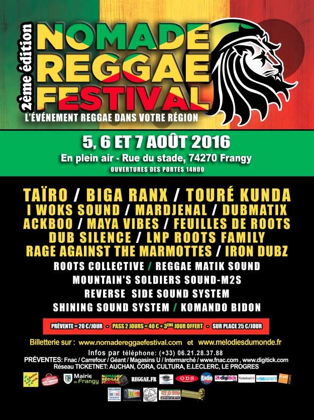 AFFICHE NOMADE Reggae Festival