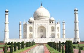 Taj Mahal. Agra, India, Tourist Places to Visit in India