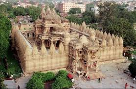 tourists on places to visit in Ahmedabad - Hutheesing Jain Temple, Ahmedabad