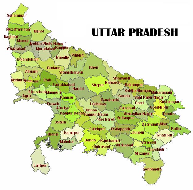 tourist places to visit in uttar pradesh - uttar pradesh map